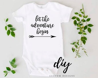 Coming Home Outfit, Let The Adventure Begin Baby Onesie® | Pregnancy Announcement Onesie® | Baby Clothing | Baby Traveler | Baby Outfit
