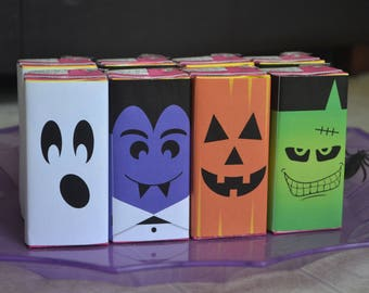 instant download halloween party juice box labels printable monster juice box covers school classroom