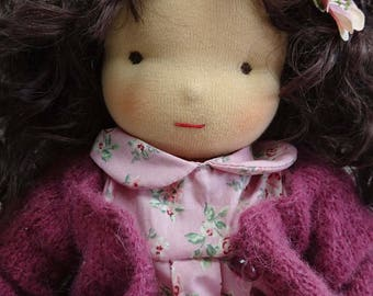Waldorf doll 43 cm with real hair
