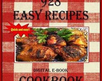 928 Delicious Easy Recipes E-Book Cookbook Digital Cookbook