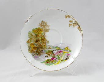 """Shelley Orphan Saucer, """"Heather"""", Replacement Saucer, Saucer ONLY, No Tea Cup"""