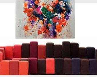 original  canvas original abstract acrylic painting print living room wall decor abstract acryle original art moden painting on canvas print