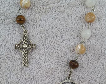Virgin Mother Prayer Beads; Virgin Mary, Blessed Virgin, Sacred Mother, Queen of Heaven, Patroness of Humanity