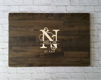 Wedding Guest Book, Carved Guest Book Alternative, Wood Wedding Sign
