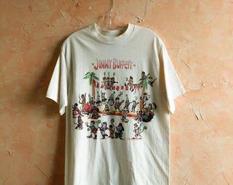 Vintage Jimmy Buffett T Shirt Chameleon Caravantour 1993