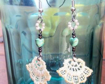 Fanned Heart Earrings