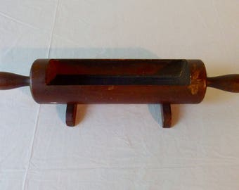 Vintage Rolling Pin Utensil Holder