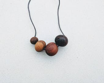 Recycled Natural Wood Necklace