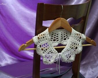 "Collar ""Sugar"": Crochet Collar, Handmade Collar, Lace Collar, Neck Accessory"