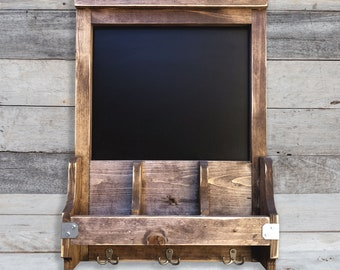 Chalkboard MORE COLORS / Key Ring Holder / Mail Sorter / farmhouse style / rustic