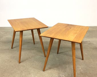 Paul McCobb | Pair of Planner Group Tables | Mid Century