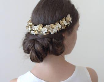 Bridal headpiece. Wedding headpiece. Blossom headpiece. Floral crown. Style 725