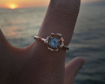 Organic Flow Halo Ring - Sophie Janson Jewellery