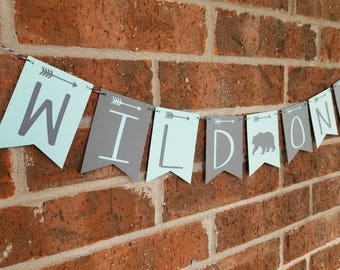 WILD ONE Banner... First Birthday... Baby Boy... Baby Girl Party Ideas... Party Decor...