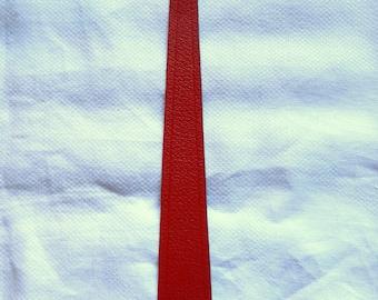 Vintage 1980's Red Leather Maple Leaf Bookmark