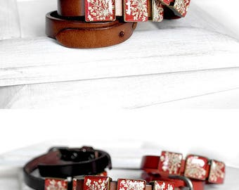 valentine's day Leather bracelet Red Brown bracelet Anniversary gift bracelet double wrap bracelet Love jewelry for her Moving gifts friends