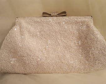 Vintage beaded clutch/shoulder bag