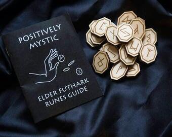 Elder Futhark Rune Set Maple Laser Cut Octagon Square Circle