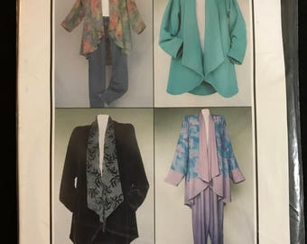 CNT Pattern - Swing Fever Jackets with Lapel Hi Lo Hem Option and Pants with Onseam Pockets - Size 8 10 12 14 16 18 20 22 24 26