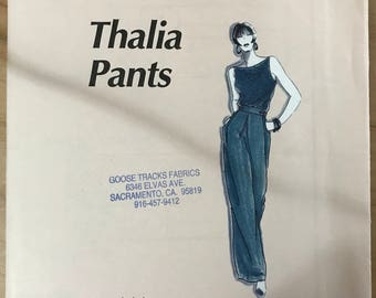 Fred Bloebaum 102 - Thalia Pants - Loose Fitting and Full Legged with Large Pox Pleat - Size XS S M L XL XXL