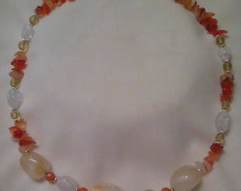 Citrine and Amber Necklace
