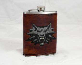 Witcher leather flask 8oz