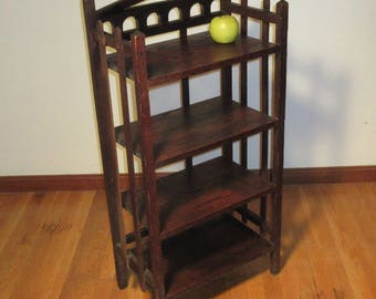 Mission Oak Craftsman Bookcase Arts & Crafts Era c1920 Free Standing 4 Shelves **Shipping is NOT included. Contact us for a shipping quote**