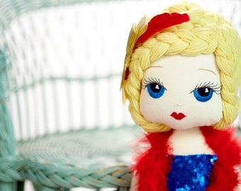 Rocketta: Handmade Cloth Doll by Manolitas