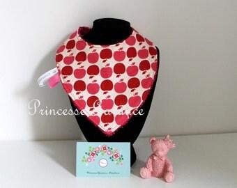 Cotton bandana bib little apples