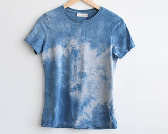 Size S Women's Shibori T-Shirt-Gray
