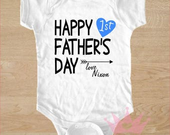 Father's Day Onesie, First Father's Day, Personalized Onesie, Father's Day Gift