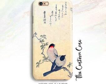 Vintage Japanese Print Iphone Case, Swallow Print Iphone Case, Japanese Bird, Iphone 4/5/5c/6/6+, Samsung Galaxy S3/S4/S5/S6/S6 Edge