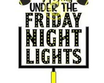 Football Svg, Goal Svg, Friday Night Lights Svg, Hometown Svg, Dxf For Cameo