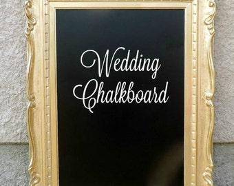 Vintage Gold Frame, Wedding Chalkboards, Wedding Chalkboard Sign, Gold Ornate Frame, Gold Wedding Decor, Vintage Wedding Decorations