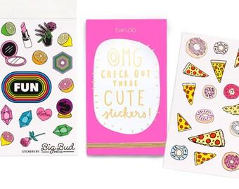 Bando Sticker Book • 700+ stickers • Satin stickers • For your planner, scrapbook, agenda, calendar, laptop
