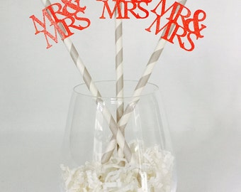 12 Mr and Mrs Straws - Wedding - Wedding Reception - Engagement Party - Bridal Shower - Bride and Groom - Married - Party