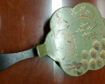 Vintage Tole Painted Silent Butler