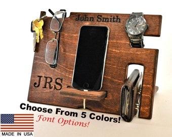 Groomsmen Gift, Dock for Groomsmen, Phone dock groomsmen gift, Docking station, wood phone dock