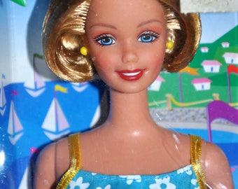 Riviera Barbie, Vintage Barbie, Blonde Bob Barbie, Mattel Barbie, Earring Barbie