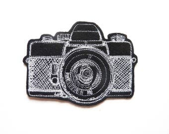 Camera patch fusible machine embroidery
