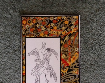 Asian Motif Greeting Card