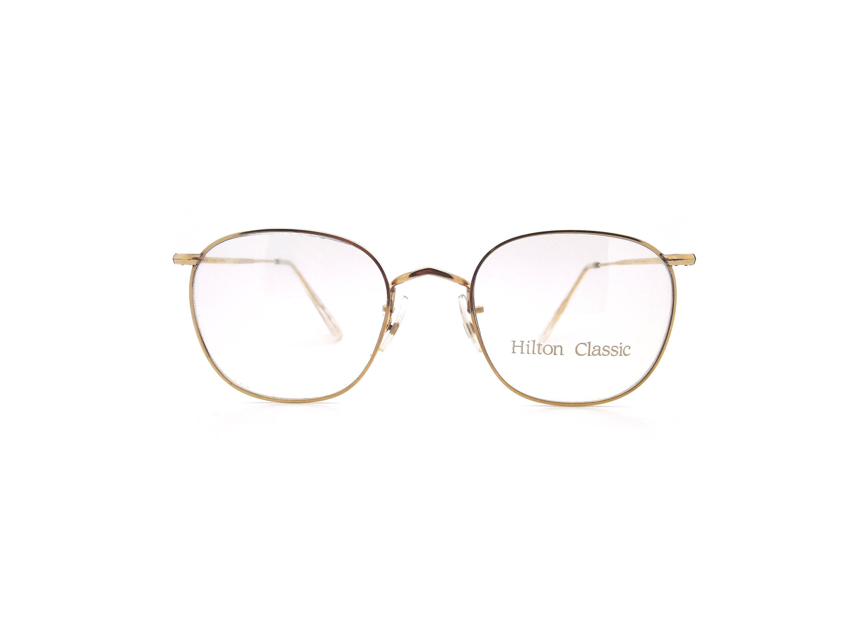 ec137d070a Genuine 1980s Hilton Classic 3 Quadrant Gold Vintage Glasses    Made in  England