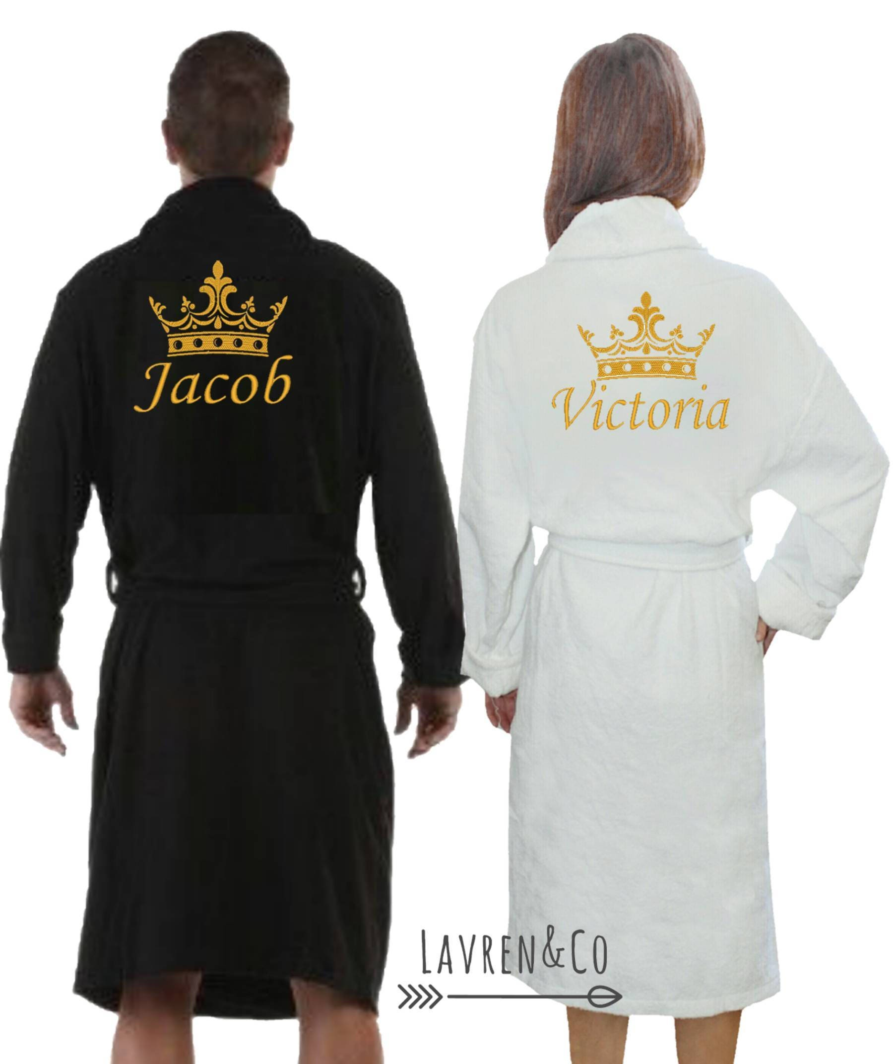 personalised dressing gown bath robe customised gift his. Black Bedroom Furniture Sets. Home Design Ideas