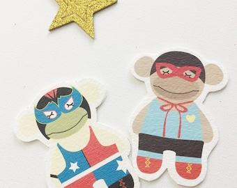 Digital Prints. Monkey Wrestler DIY art prints. Nursery Wall art. Nursery Decorating Ideas. Goodie bag ideas. Birthday gifts.