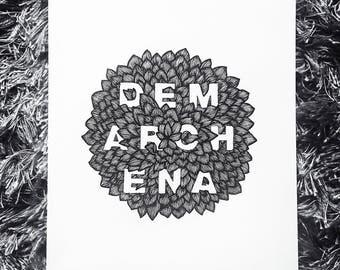 custom hand lettered botanical illustration