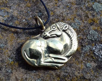 Horse pendant, Scythians horse, Pagan jewelry, Medieval age, Museum Replica, stallion horse, Animal style, ancient pendant, ethnic style