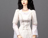"""READY to SHIP! Gorgeous black angora goat wig  for SD, supergem or other doll with 8-9"""" head"""