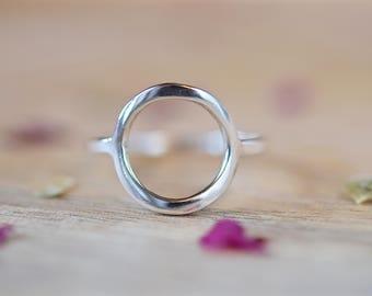 Silver Circle Ring | Karma Ring | Minimalist Ring