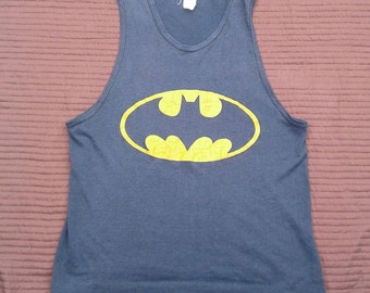 Vintage 80's Batman Butter Thin Tanktop Made in Canada