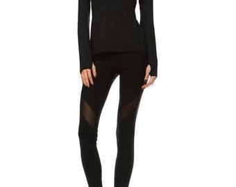 Activewear Jacket with Hoodie - Black